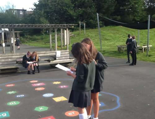 Outdoor and cooperative Maths learning