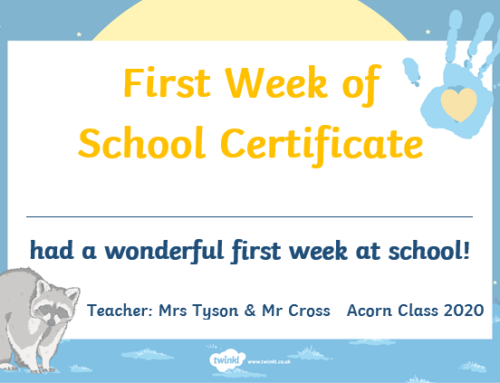 First Week in Acorn Class!