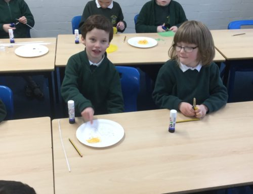 Making our very own eat well plates!